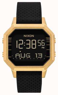 Nixon Syrena ss   złoty / czarny lewy   cyfrowy   czarny silikonowy pasek A1211-2970-00