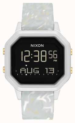 Nixon Syrena ss   srebrny / szary marmur   cyfrowy   silikonowy pasek w kolorze marmuru A1211-3413-00