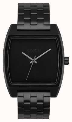 Nixon Śledzenie czasu | wszystko czarne | czarna stalowa bransoletka ip | czarna tarcza A1245-001-00