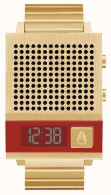 Nixon Dork też | całe złoto | cyfrowy | złota bransoletka ze stali ip | mówić A1266-502-00