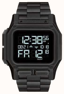 Nixon Regulus ss | wszystko czarne | cyfrowy | bransoleta ze stali czarnej ip A1268-001-00