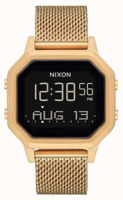 Nixon Syrena milanese   całe złoto   cyfrowy   bransoletka ze stali nierdzewnej w kolorze złotym ip A1272-502-00