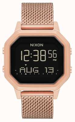 Nixon Syrena milanese   całe różowe złoto   cyfrowy   stalowa siatka ip w kolorze różowego złota   A1272-897-00
