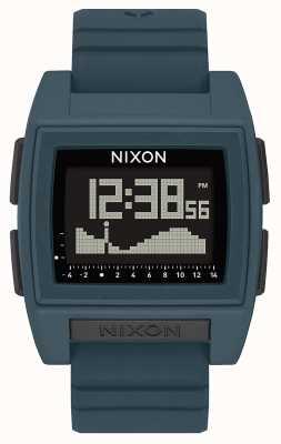 Nixon Podstawowy przypływ pro   ciemny łupek   cyfrowy   silikonowy pasek w kolorze łupka A1307-2889-00