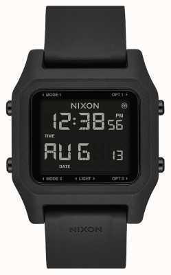 Nixon Zszywka   czarny   cyfrowy   czarny silikonowy pasek A1309-000-00