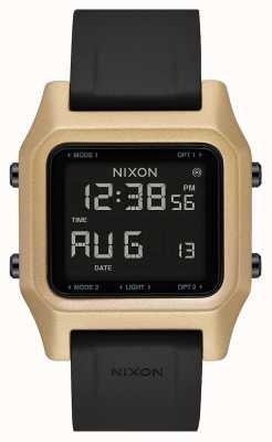 Nixon Zszywka | czarny / złoty | cyfrowy | czarny silikonowy pasek A1309-010-00