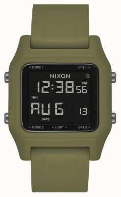Nixon Zszywka | oliwka | cyfrowy | silikonowy pasek w kolorze oliwkowym A1309-333-00