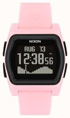 Nixon Rywal   różowy / czarny   cyfrowy   różowy silikon strao A1236-2531-00
