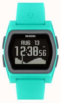 Nixon Rywal   turkusowy   cyfrowy   turkusowy silikonowy pasek A1236-309-00