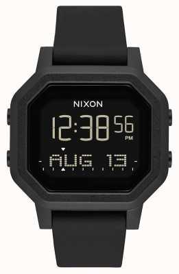 Nixon Syrena   wszystko czarne   cyfrowy   czarny silikonowy pasek A1311-001-00