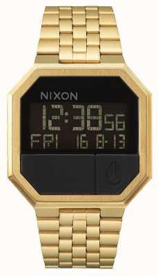 Nixon Uruchom ponownie   całe złoto   cyfrowy   bransoletka ze stali w kolorze złotym ip A158-502-00