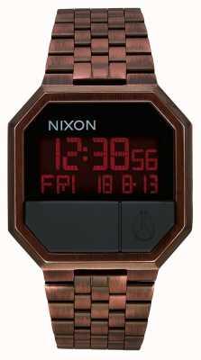 Nixon Uruchom ponownie | antyczna miedź | cyfrowy | bransoleta ze stali w kolorze miedzi A158-894-00