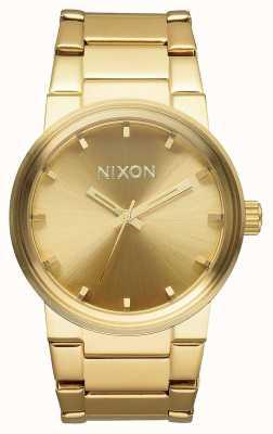 Nixon Armata | całe złoto | złota bransoletka ze stali ip | złota tarcza A160-502-00