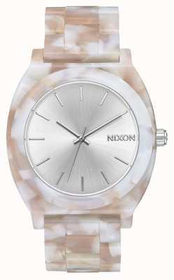 Nixon Octan licznika czasu   różowy / srebrny   srebrna tarcza A327-718-00