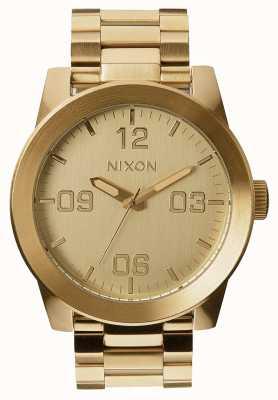 Nixon Kapral ss | całe złoto | złota bransoletka ze stali ip | złota tarcza A346-502-00