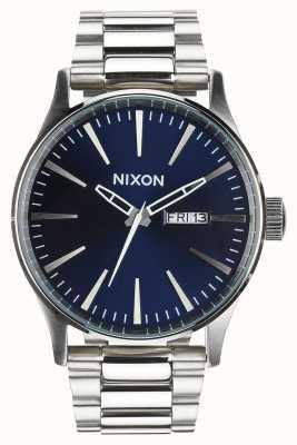 Nixon Sentry ss   niebieski promień słońca   bransoleta ze stali nierdzewnej   niebieska tarcza A356-1258-00
