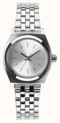 Nixon Mały kasjer   cały srebrny   bransoleta ze stali nierdzewnej srebrna tarcza A399-1920-00