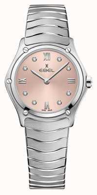 EBEL Klasyczny sportowy damski   bransoleta ze stali nierdzewnej   różowa galwaniczna tarcza 1216444A