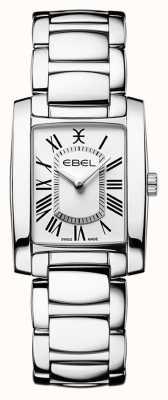EBEL Brasilia dla kobiet   bransoleta ze stali nierdzewnej   biała tarcza 1216461