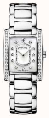 EBEL Brasilia dla kobiet   bransoleta ze stali nierdzewnej   tarcza z masy perłowej lub matowej 1216463