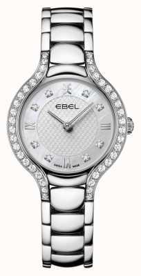 EBEL Beluga kobiet   bransoleta ze stali nierdzewnej   tarcza z masy perłowej   zestaw diamentów 1216465