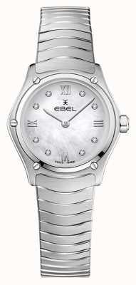 EBEL Klasyczny sportowy damski   bransoleta ze stali nierdzewnej   srebrna tarcza diamentowa 1216474A