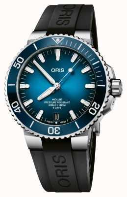ORIS Data Aquis | kaliber 400 120 godzin | silikonowy pasek | niebieska tarcza 01 400 7763 4135-07 4 24 74EB
