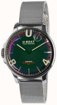 U-Boat Darkmoon 38mm czarna metalowa bransoletka SS 8471/MT