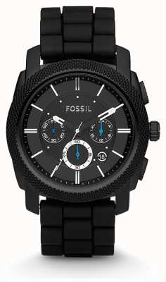 Fossil Męski zegarek z czarnym chronografem FS4487