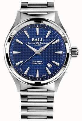 Ball Watch Company Zwycięstwo strażaka | stalowa bransoletka | clous de paris niebieski NM2098C-S5J-BE