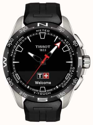 Tissot T-touch connect solar | czarny silikonowy pasek T1214204705100
