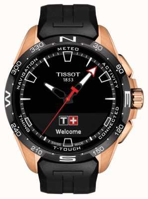 Tissot T-touch connect solar | czarny silikonowy pasek T1214204705102