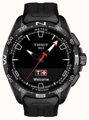 Tissot T-touch connect solar | czarny silikonowy pasek T1214204705103