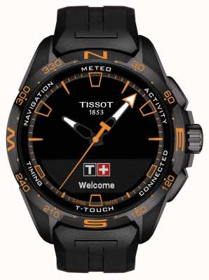 Tissot T-touch connect solar | czarny silikonowy pasek T1214204705104