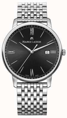 Maurice Lacroix Eliros dla mężczyzn | bransoleta ze stali nierdzewnej | czarna tarcza EL1118-SS002-310-2