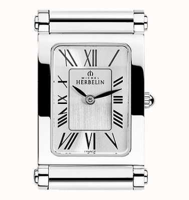 Michel Herbelin Antarès   tylko tarcza zegarka ze stali nierdzewnej   cyfry rzymskie H.17048/01
