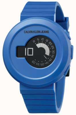 Calvin Klein Digirock męski | niebieski pasek silikonowy | czarna tarcza KAN51YV1