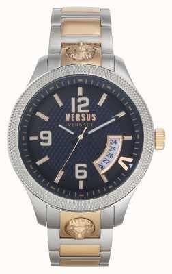 Versus Versace | męskie | reale | dwukolorowa stalowa bransoletka | niebieska tarcza | VSPVT0920