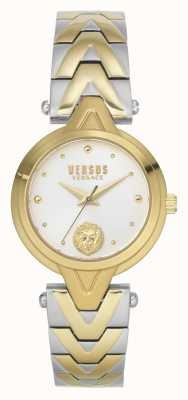 Versus Versace Kobiety v_versus forlanini | dwukolorowa stalowa bransoletka | srebrna tarcza VSPVN1020