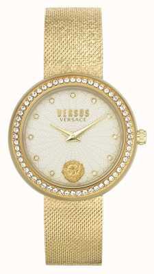 Versus Versace | damskie | lea | bransoletka z siatki złota | tarcza szampana | VSPEN1520