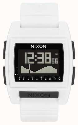 Nixon Podstawowy przypływ pro   biały   cyfrowy   biały silikonowy pasek A1212-100-00