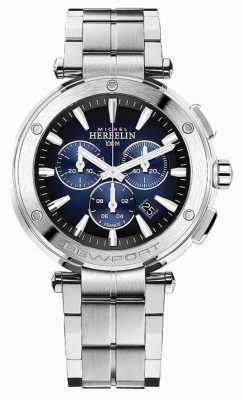 Michel Herbelin Męski chronograf newport | bransoleta ze stali nierdzewnej | 37688/B35