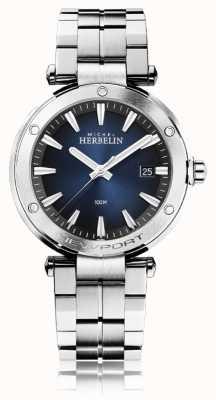Michel Herbelin Newport dla mężczyzn | bransoleta ze stali nierdzewnej | niebieska tarcza 12288/B15