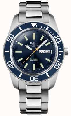 Ball Watch Company Mistrz Inżyniera II | dziedzictwo skindiverów | niebieska tarcza | bransoleta ze stali nierdzewnej DM3308A-S1C-BE