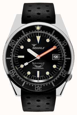 Squale 1521 classic | czarny pasek tropiku | czarna tarcza 1521CL-CINTRB20