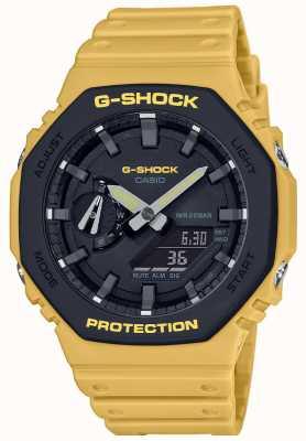 Casio | g-shock | rdzeń węglowy | warstwowa ramka | żółty gumowy pasek | GA-2110SU-9AER