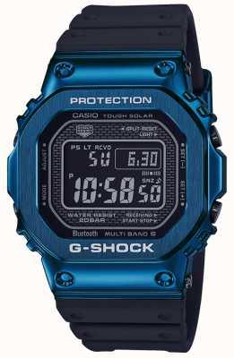 Casio G-shock niebieski, wytrzymały solarny niebieski IP GMW-B5000G-2ER