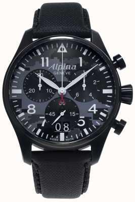 Alpina Startimer pilot chrono | czarny pasek z tworzywa sztucznego | szara tarcza AL-372BMLY4FBS6