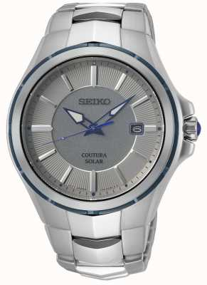 Seiko Coutura | bransoleta ze stali nierdzewnej | szaro-srebrna tarcza SNE565P9