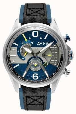 AVI-8 Hawker harrier ii | chronograf | niebieska tarcza | niebieski skórzany czarny pasek nato AV-4056-01